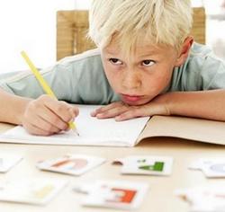Neurofeedback in Sydney, boy doing homework